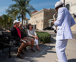 HALLANDALE BEACH, FL - JAN 28: Jon Saxx Entertainment, playing for the some fans at the Pegasus World Cup Invitational Day at Gulfstream Park Race Course on January 28, 2017 in Hallandale Beach, Florida. (Photo by Douglas DeFelice/Eclipse Sportswire/Getty Images)