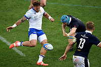 Federico Mori of Italy in action during the rugby Autumn Nations Cup's match between Italy and Scotland at Stadio Artemio Franchi on November 14, 2020 in Florence, Italy. Photo Andrea Staccioli / Insidefoto