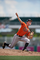 Baltimore Orioles pitcher Jake Zebron (65) delivers a pitch during a Florida Instructional League game against the Boston Red Sox on September 21, 2018 at JetBlue Park in Fort Myers, Florida.  (Mike Janes/Four Seam Images)