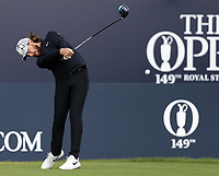 16th July 2021; Royal St Georges Golf Club, Sandwich, Kent, England; The Open Championship Tour Golf, Day Two; Tommy Fleetwood (ENG) hits his tee shot on the 1st hole