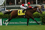 May 2, 2014: Marchman with Robby Albarado wins the Grade 3 Twin Spires Turf Sprint, 4-year olds & up, going 5 furlongs at Churchill Downs. Trainer: W. Bret Calhoun. Owner: Martin Racing Stable. Sue Kawczynski/ESW/CSM