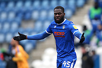 Frank Nouble of Colchester United during Colchester United vs Mansfield Town, Sky Bet EFL League 2 Football at the JobServe Community Stadium on 14th February 2021