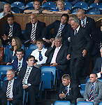 All eyes on Charles Green as he takes his seat in the Rangers directors box after being appointed consultant to the club