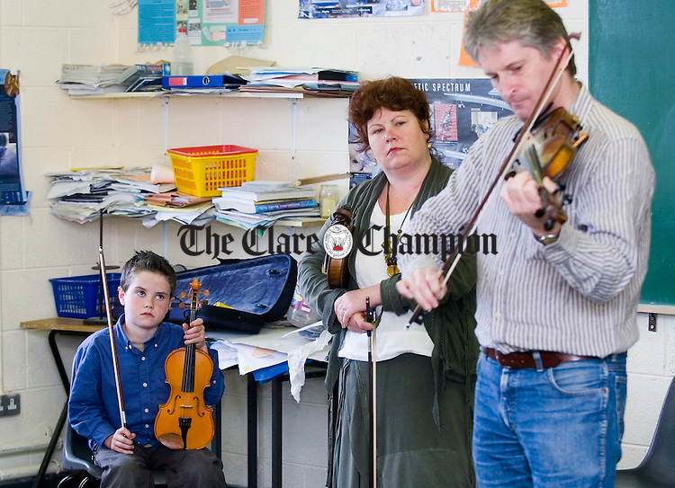Peadar Giles of Clarinbridge in Fiddle class at the Willie Clancy Summerschool. Photograph by John Kelly.