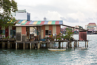 Stilt House on a Clan Jetty, George Town, Penang, Malaysia