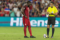Orlando, FL - Friday Oct. 06, 2017: Jozy Altidore, Roberto García during a 2018 FIFA World Cup Qualifier between the men's national teams of the United States (USA) and Panama (PAN) at Orlando City Stadium.