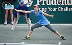 Jana Cepelova (SVK loses to Andrea Petkovic (GER) 7-5, 6-2 at the Family Circle Cup in Charleston, South Carolina on April 6, 2014.