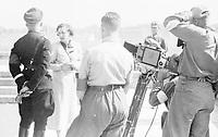 File photo circa 1936 - film maker Leni Riefenstahl meeet Heinrich Himmler