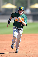 Siena Saints shortstop Tyler Martis (1) during a game against the Central Florida Knights at Jay Bergman Field on February 16, 2014 in Orlando, Florida.  UCF defeated Siena 9-6.  (Mike Janes/Four Seam Images)