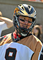 23 August 2008: Rochester Rattlers' Midfielder Gavin Prout prepares for the start of play against the Philadelphia Barrage during the Semi-Finals of the Major League Lacrosse Championship Weekend at Harvard Stadium in Boston, MA. The Rattlers defeated the Barrage 16-15 in sudden death overtime, advancing to the upcoming Championship Game...Mandatory Photo Credit: Ed Wolfstein Photo