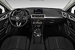 Stock photo of straight dashboard view of 2018 Mazda Mazda3 Sport 4 Door Sedan Dashboard