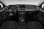 Stock photo of straight dashboard view of 2018 Mazda Mazda3 Sport 4 Door Sedan Dashboard