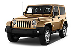 2016 JEEP Wrangler Sahara 5 Door SUV Angular Front stock photos of front three quarter view