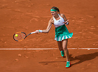 Paris, France, 4 June, 2017, Tennis, French Open, Roland Garros, Kristina Mladenovic (FRA)<br /> Photo: Henk Koster/tennisimages.com
