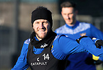 St Johnstone Training….Stevie May pictured during training at McDiarmid Park ahead of Sundays game against Celtic.<br />