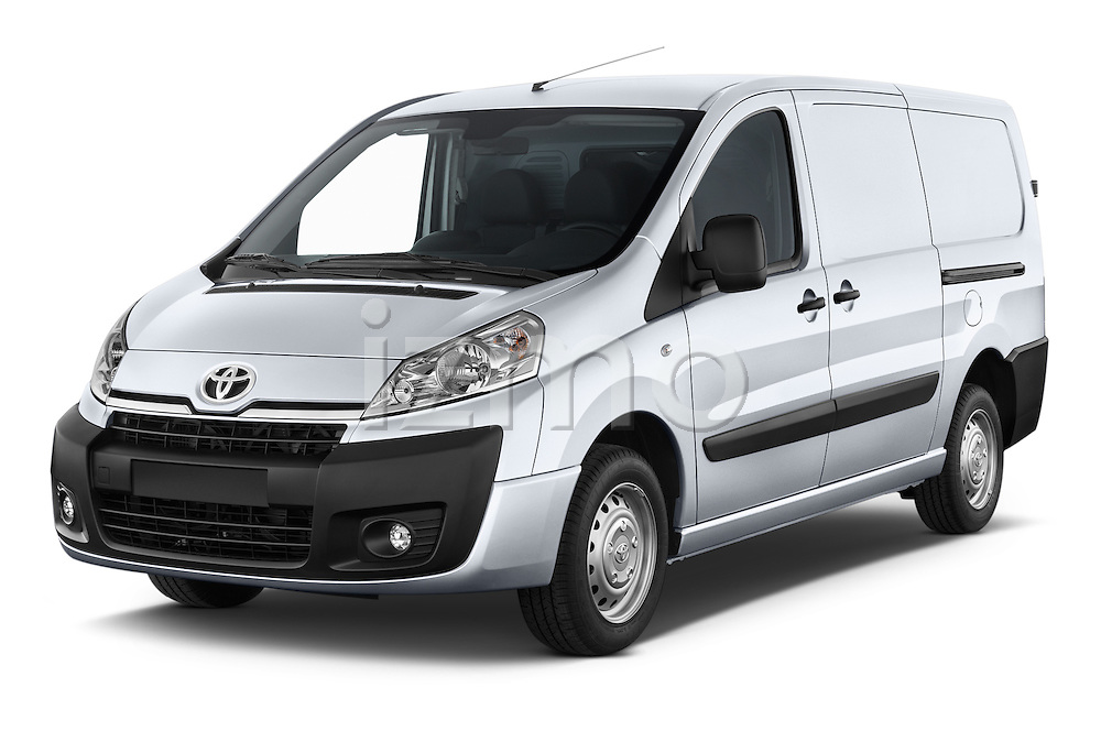 2013 Toyota Proace Comfort 5 Door Cargo Van Angular Front stock photos of front three quarter view