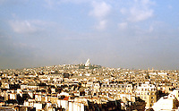 Paris: Looking NW to Sacre Coeur. Photo '90.