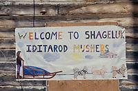 Sign On Checkpoint Building Shageluk Chpt Iditarod AK