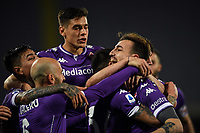 Gaetano Castrovilli of ACF Fiorentina celebrates with team mates after scoring a goal during the Serie A football match between ACF Fiorentina and Spezia Calcio at Artemio Franchi stadium in Firenze (Italy), February 19, 2021. Photo Image Sport / Insidefoto