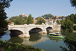 Italien, Piemont, Hauptstadt Turin: Ponte Umberto, Fluss Po, Monte dei Cappuccini | Italy, Piedmont, capital Torino: Ponte Umberto, river Po, Monte dei Cappuccini