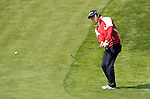 JEJU, SOUTH KOREA - APRIL 23:  Bae Sang-moon of Korea chips into the 2nd green during the Round Two of the Ballantine's Championship at Pinx Golf Club on April 23, 2010 in Jeju island, South Korea.  Photo by Victor Fraile / The Power of Sport Images