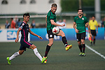 Kitchee (in navy blue) vs Yau Yee League Select (in green), during their Main Tournament match, part of the HKFC Citi Soccer Sevens 2017 on 27 May 2017 at the Hong Kong Football Club, Hong Kong, China. Photo by Marcio Rodrigo Machado / Power Sport Images