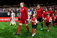 New Orleans, LA - Thursday October 19, 2017: USWNT during an International friendly match between the Women's National teams of the United States (USA) and South Korea (KOR) at Mercedes Benz Superdome.