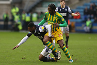 Mahlon Romeo of Millwall and Romaine Sawyers of West Bromwich Albion during Millwall vs West Bromwich Albion, Sky Bet EFL Championship Football at The Den on 9th February 2020