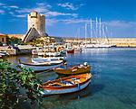 Italien, Toskana, Insel Elba, Marciana Marina: Hafen mit Sarazenenturm | Italy, Tuscany, island Elba, Marciana Marina: harbour with Saracen Tower