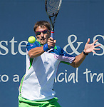 Tommy Robredo (ESP) loses to David Ferrer (ESP) 6-4, 3-6, 6-3 at the Western & Southern Open in Mason, OH on August 15, 2014.