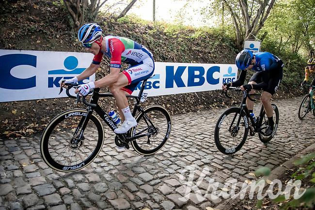Niki Terpstra (NED/Total - Direct Energie) up the infamous Koppenberg<br /> <br /> 104th Ronde van Vlaanderen 2020 (1.UWT)<br /> 1 day race from Antwerpen to Oudenaarde (BEL/243km) <br /> <br /> ©kramon
