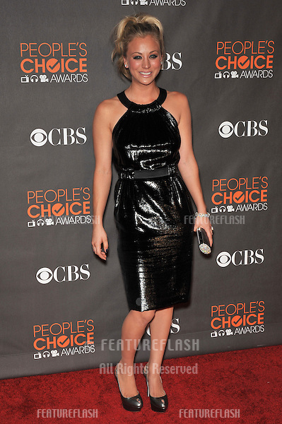 Kaley Cuoco at the 2010 People's Choice Awards at the Nokia Theatre L.A. Live in Los Angeles..January 6, 2010  Los Angeles, CA.Picture: Paul Smith / Featureflash