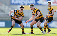 Monday 27th February 2017   ULSTER SCHOOLS CUP SEMI-FINAL<br /> <br /> Neil Saulters during the Ulster Schools Cup Semi-Final between RBAI and Ballymena Academy  at Kingspan Stadium, Ravenhill Park, Belfast, Northern Ireland. <br /> <br /> Photograph by John Dickson   www.dicksondigital.com