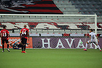 9th September 2020; Arena da Baixada, Curitiba, Brazil; Brazilian Serie A, Athletico Paranaense versus Botafogo; Victor Luis of Botafogo scores his goal in the 77th minute 0-1