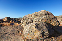 Bizarre giant stones in the village volax in Tinos island, Greece