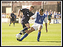 23/08/2003                   Copyright Pic : James Stewart.File Name : stewart-falkirk v qots 03.JAMES THOMSON CHALLENGES FALKIRK'S COLIN MCMENAMIN.....James Stewart Photo Agency, 19 Carronlea Drive, Falkirk. FK2 8DN      Vat Reg No. 607 6932 25.Office     : +44 (0)1324 570906     .Mobile  : +44 (0)7721 416997.Fax         :  +44 (0)1324 570906.E-mail  :  jim@jspa.co.uk.If you require further information then contact Jim Stewart on any of the numbers above.........