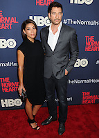 """NEW YORK CITY, NY, USA - MAY 12: Shasi Wells, Dylan McDermott at the New York Screening Of HBO's """"The Normal Heart"""" held at the Ziegfeld Theater on May 12, 2014 in New York City, New York, United States. (Photo by Celebrity Monitor)"""