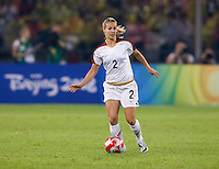 Heather Mitts. The USWNT defeated Brazil, 1-0, to win the gold medal during the 2008 Beijing Olympics at Workers' Stadium in Beijing, China.