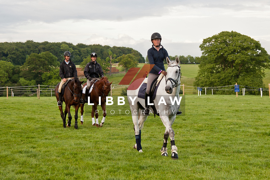 AUS-Emma Dougall (KELECYN ICE AGE) 2012 GBR-Bramham International Horse Trial: Wednesday - relaxing grounds familiarisation...