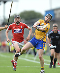 Darragh Fitzgibbon of Cork in action against Tony Kelly of Clare during their Munster senior hurling final at Thurles. Photograph by John Kelly.