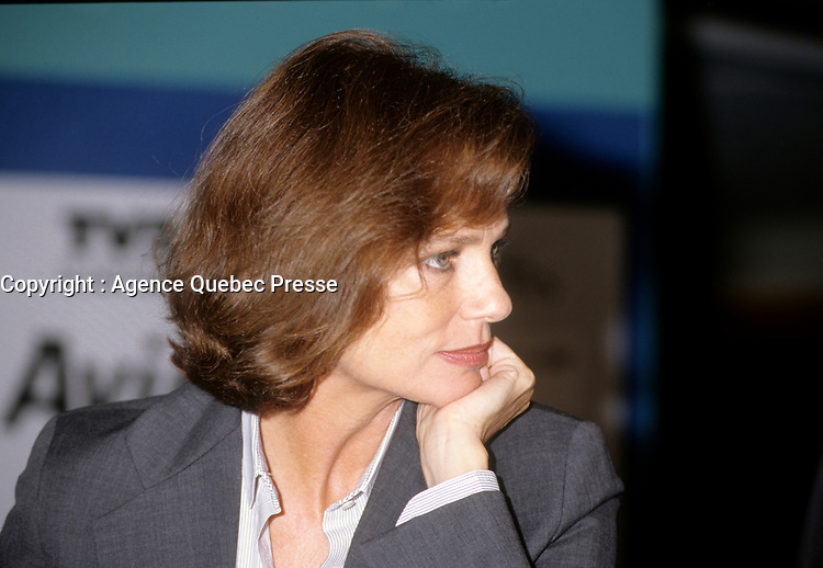 l'actrice Jacqueline Bisset au Festival des Films du Monde<br /> , 23 Aout 1997, Complexe Desjardins<br /> <br /> Actress Jacqueline Bisset at the<br />  World Film Festival, August 1997, Montreal, CANADA<br /> <br /> PHOTO :   agence Quebec Presse