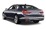 Car pictures of rear three quarter view of 2017 BMW 7 Series 740i 4 Door Sedan Angular Rear