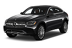 2020 Mercedes Benz GLC-Coupe GLC300 5 Door SUV Angular Front automotive stock photos of front three quarter view