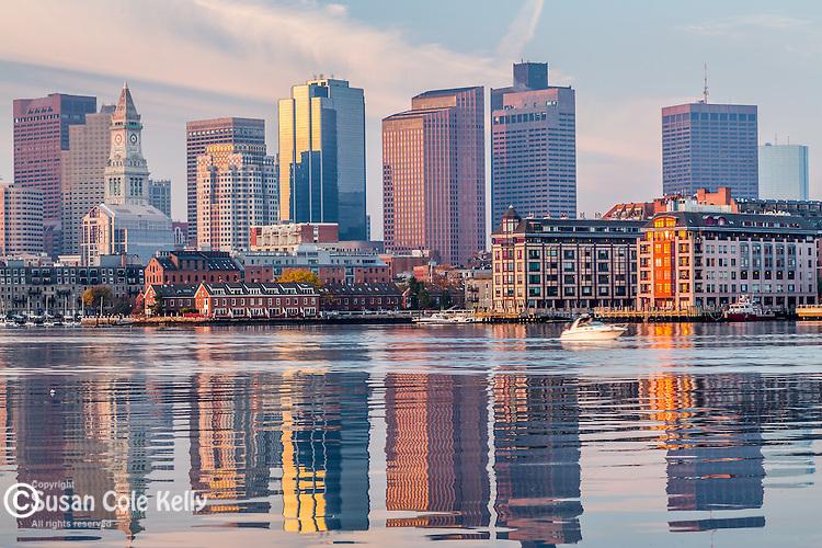 The Boston skyline in autumn, Boston, Massachusetts, USA