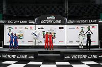 #61: Conquest Racing Norma M30, P3-2: Danny Kok, George Staikos, #60: Wulver Racing Ligier JS P3, P3-2: Bruce Hamilton, Tonis Kasemets, #86: One Motorsports Ligier JS P3, P3-2: Bob Iversen, Terry Olson, podium