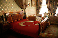 THE ROOM THAT ATATURK DIED IN AT THE DOLMABAHCE PALACE, ISTANBUL, TURKEY