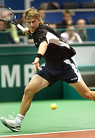 20-2-06, Netherlands, tennis, Rotterdam, ABNAMROWTT, Vik in action against Rusedski