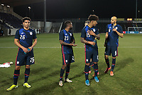 WIENER NEUSTADT, AUSTRIA - MARCH 25: Nicholas Gioacchini #26 of the United States celebrates with teammates Kellyn Acosta #23, Chris Richards #15, and John Brooks #6 during a game between Jamaica and USMNT at Stadion Wiener Neustadt on March 25, 2021 in Wiener Neustadt, Austria.