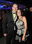 "Belinda and Senator Charles Schwertner at the San Luis Salute ""Space Pirates"" VIP reception Friday February 24,2017. (Dave Rossman Photo)"