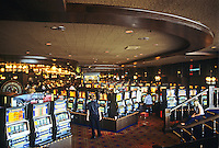 Las Vegas: Barbary Coast--slot machines. Photo '79.